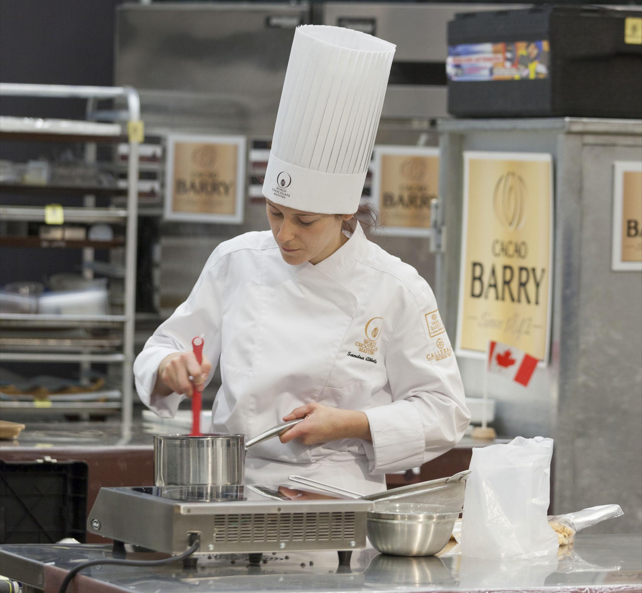 Sandra preparing the fillings for her Bon Bon