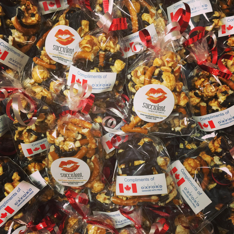 salty choco popcorn corporate gifting