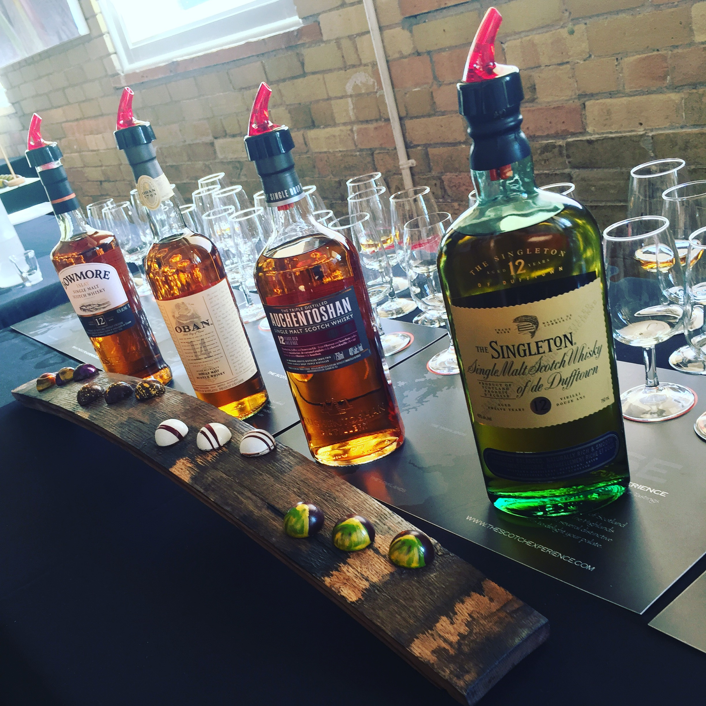 Scotch & Whiskey   Take in the unique flavours of the different types of scotch and chocolate while learning more about each medium. Also learn how they compliment and contrast each other through the guidance of our experts like  Stuart Brown  from  The Scotch Experience .