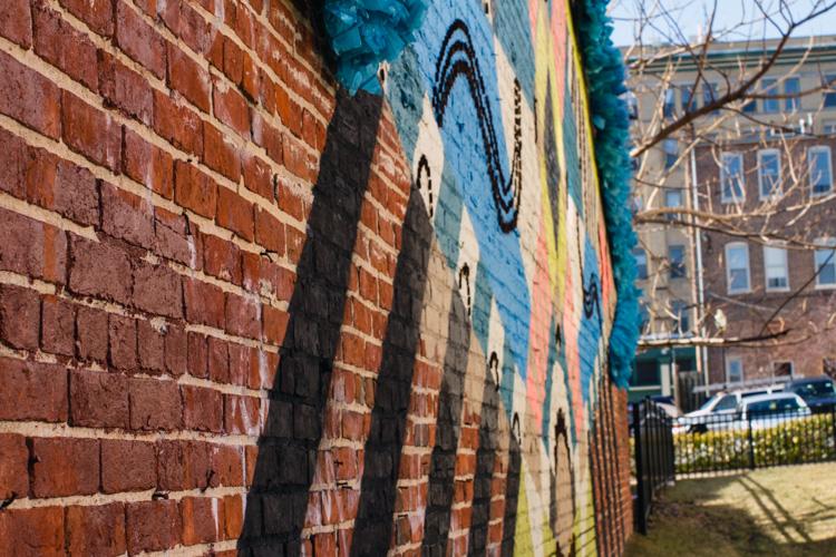 Colorful-brick-wall