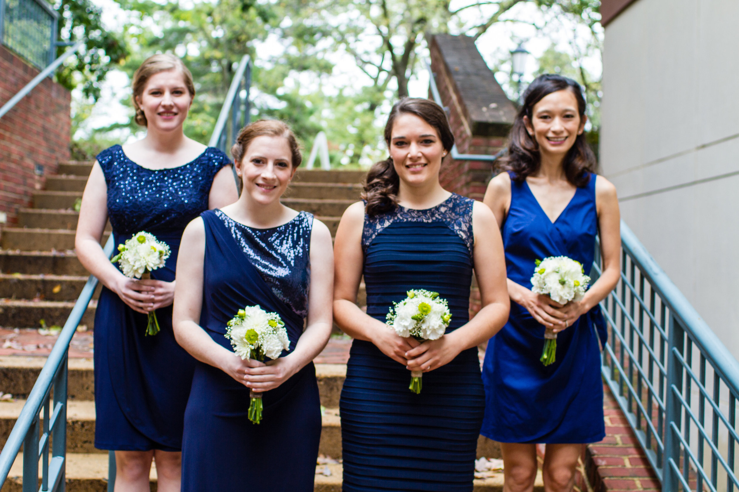 Navy-blue-bridesmaids-dresses