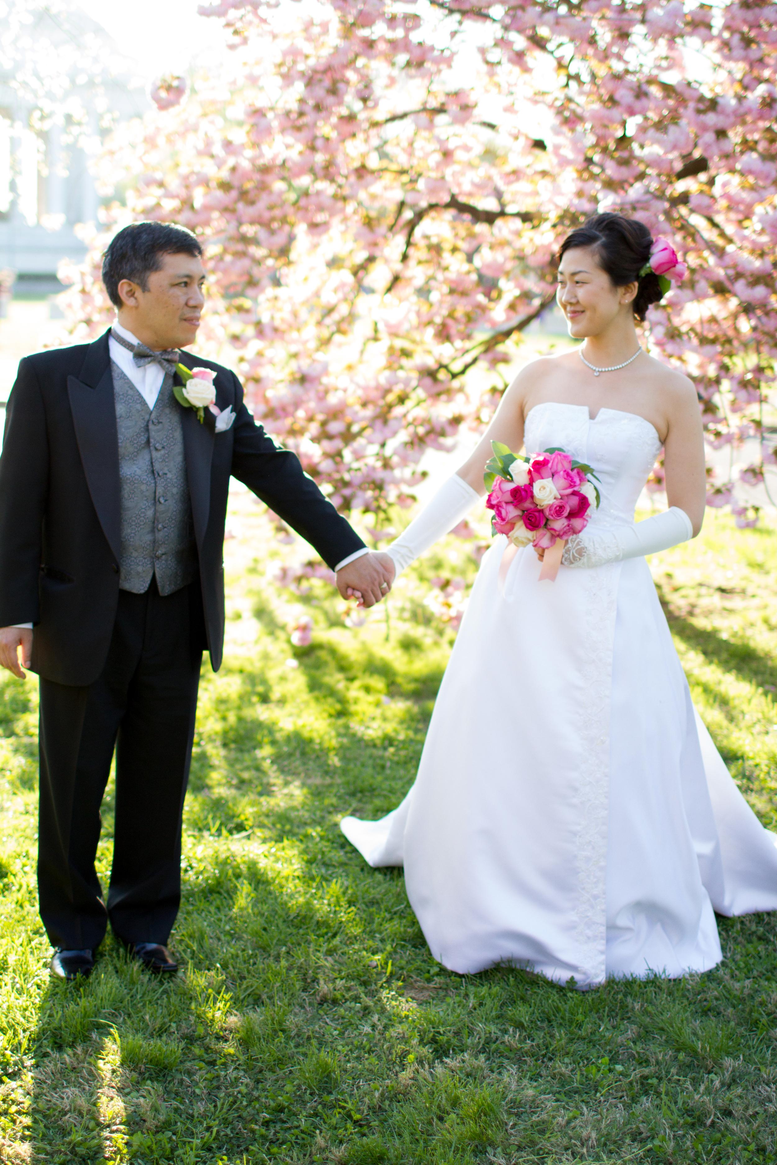 DC cherry blossom wedding