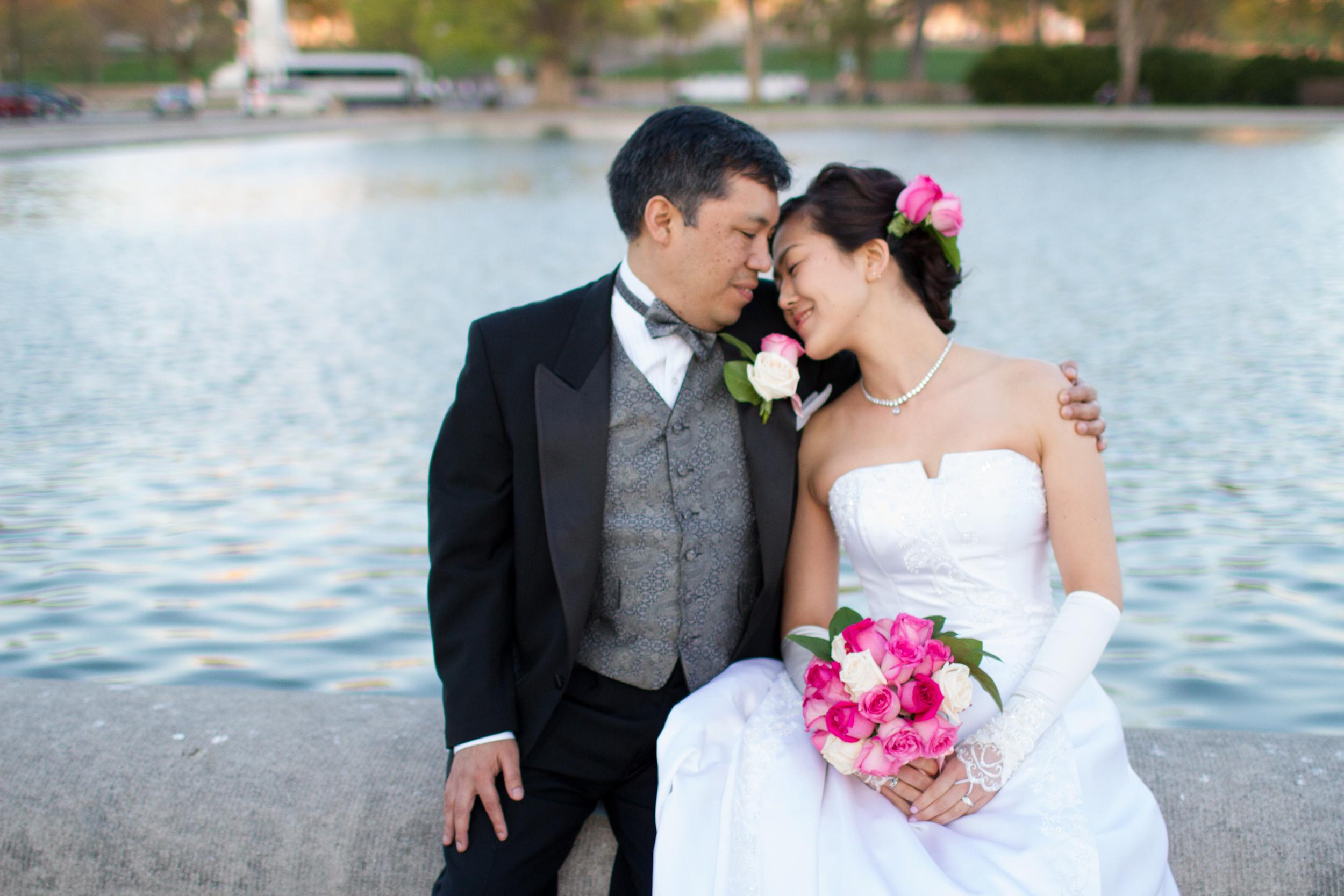 Cherry blossoms spring wedding
