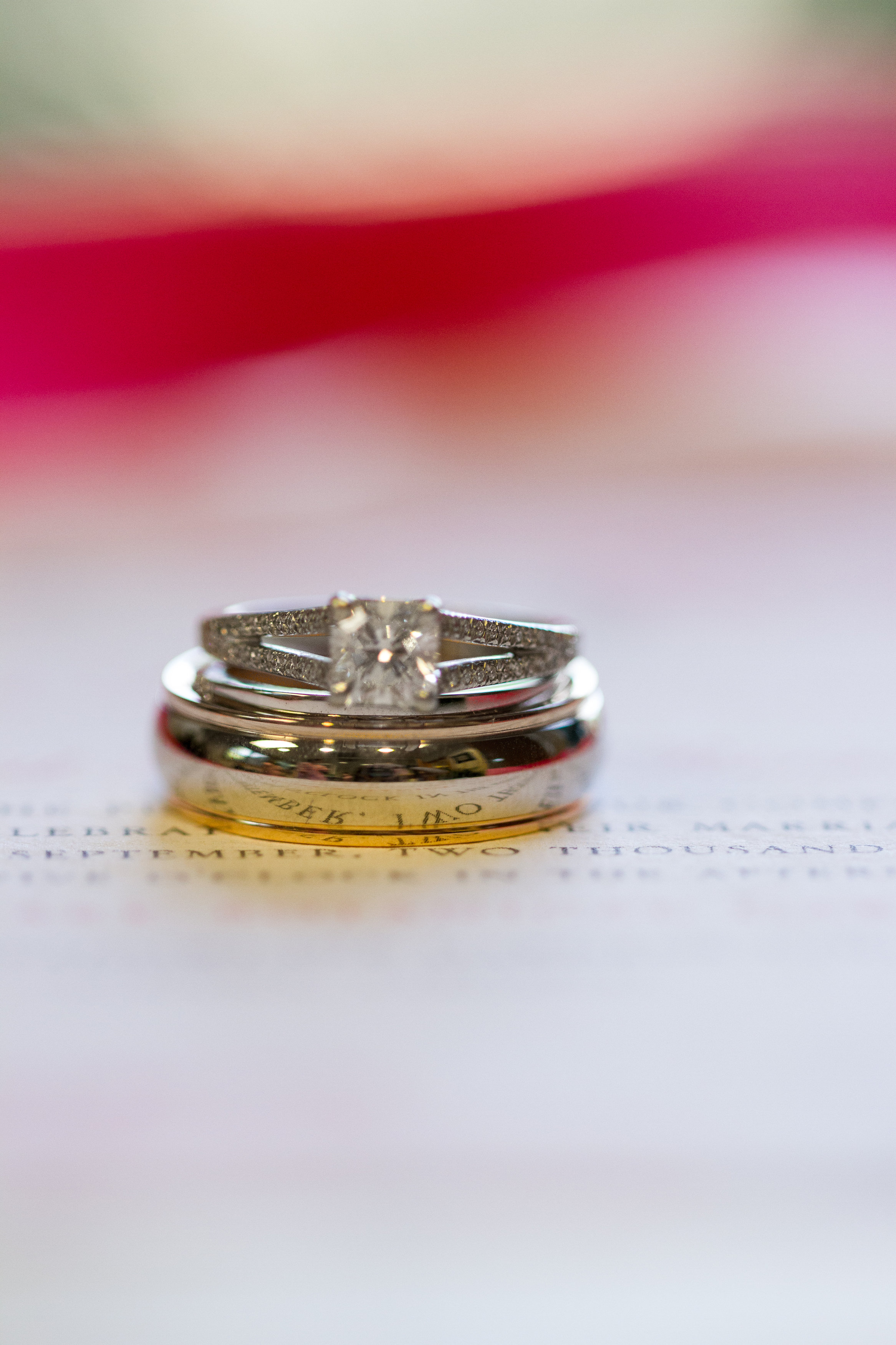 Wedding rings Meadowlark Botanical Garden Wedding
