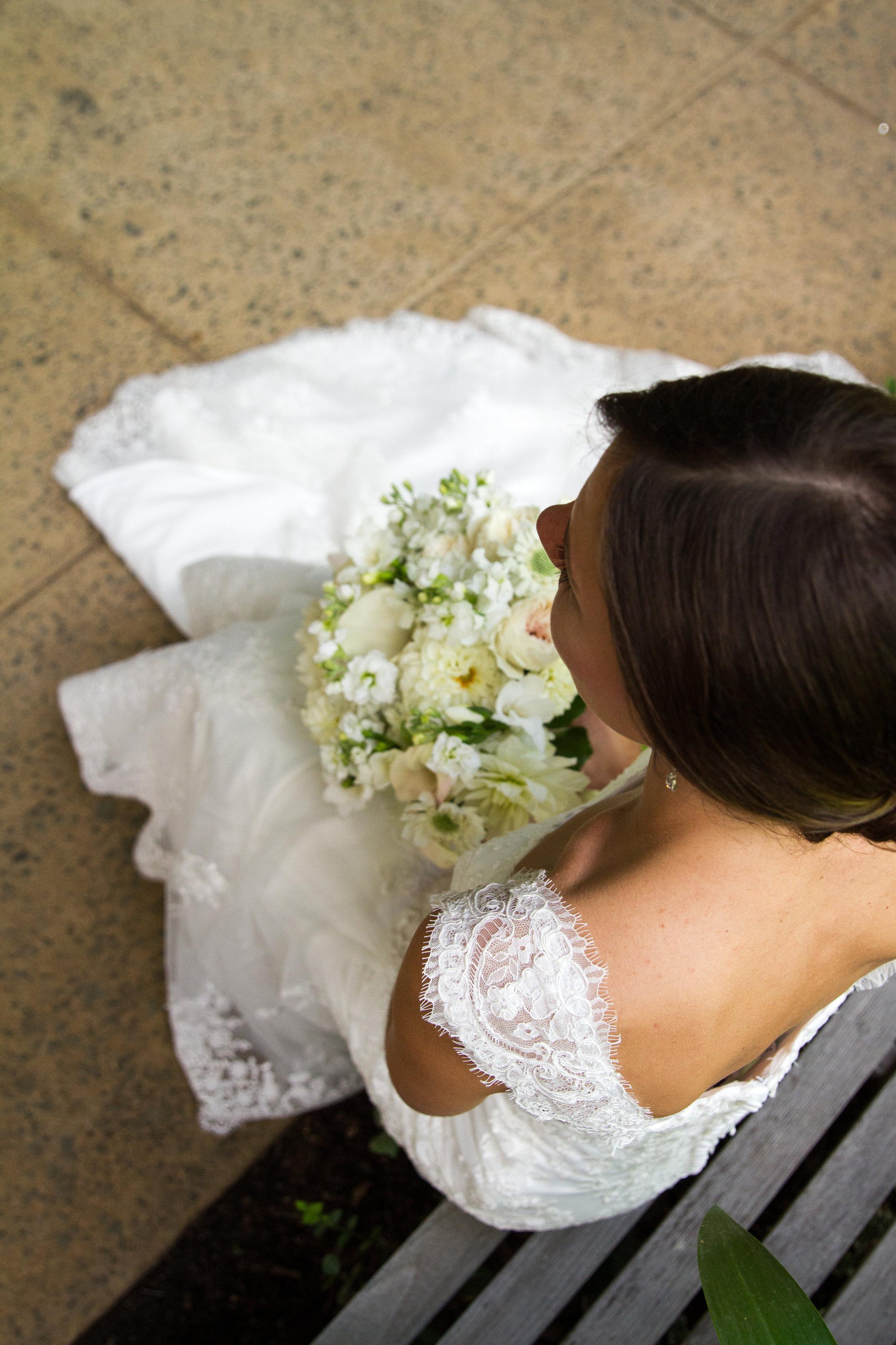 Elegant wedding updo Meadowlark Botanical Garden Wedding