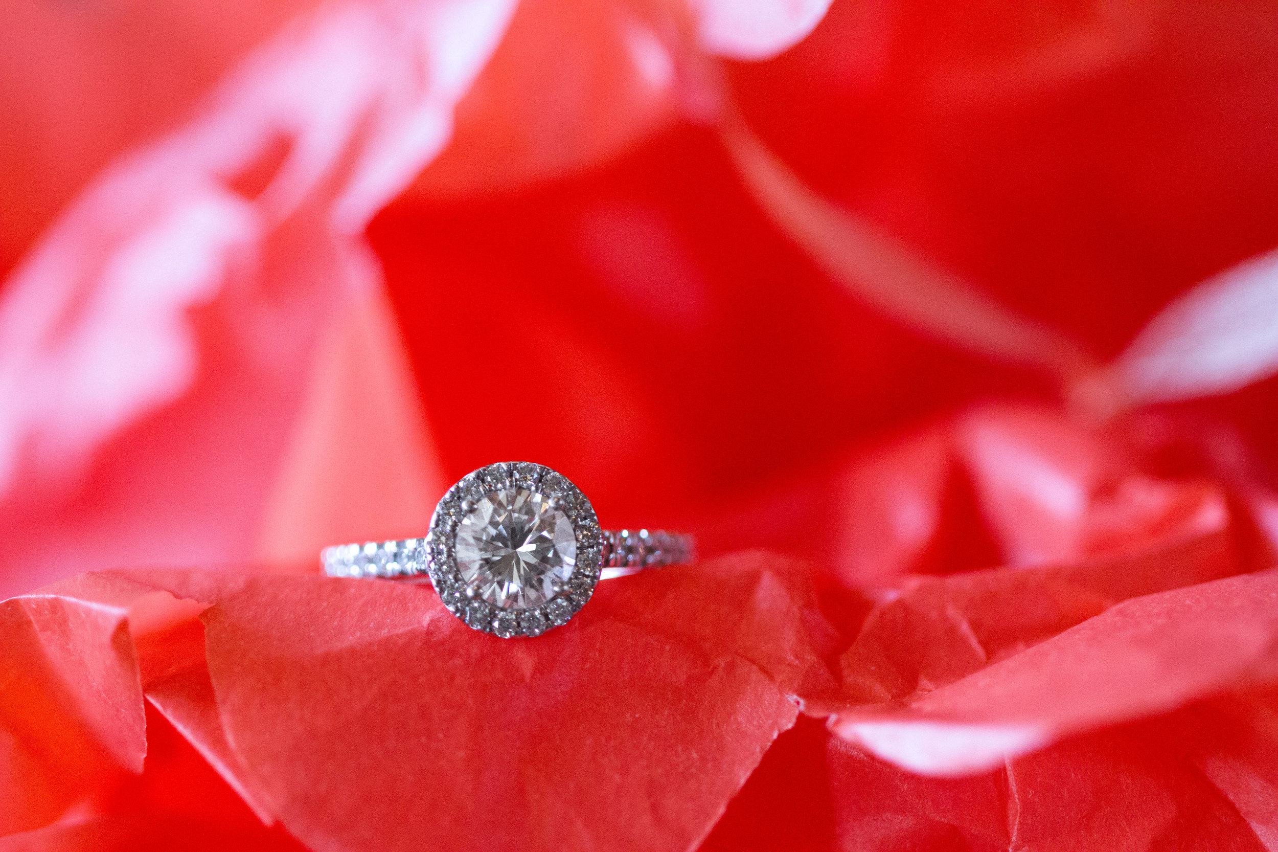Halo wedding ring | Bull Run Golf Club Wedding | Haymarket Wedding Photographer