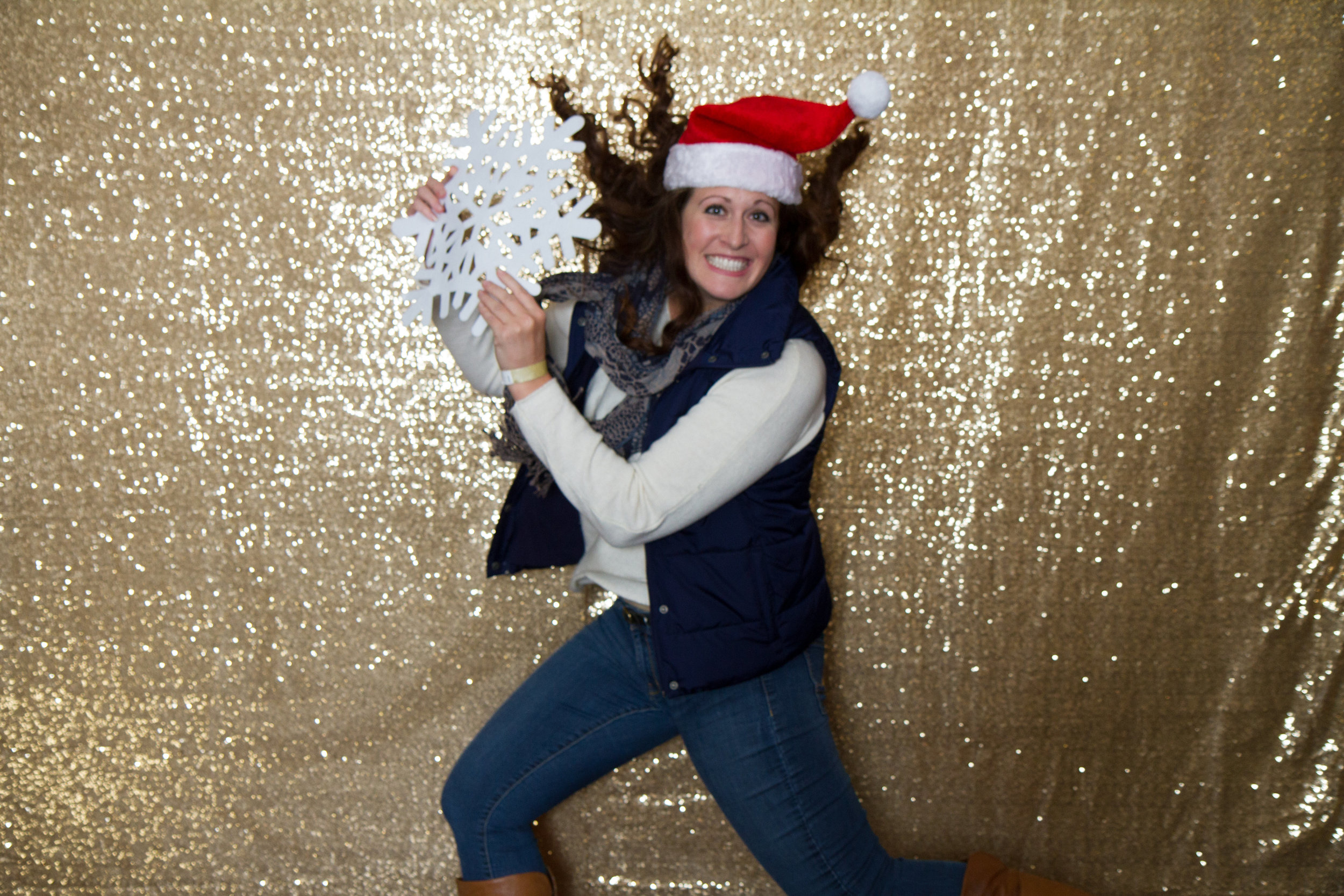 Sparkly Christmas photo booth | MBC Holiday Show and Expo