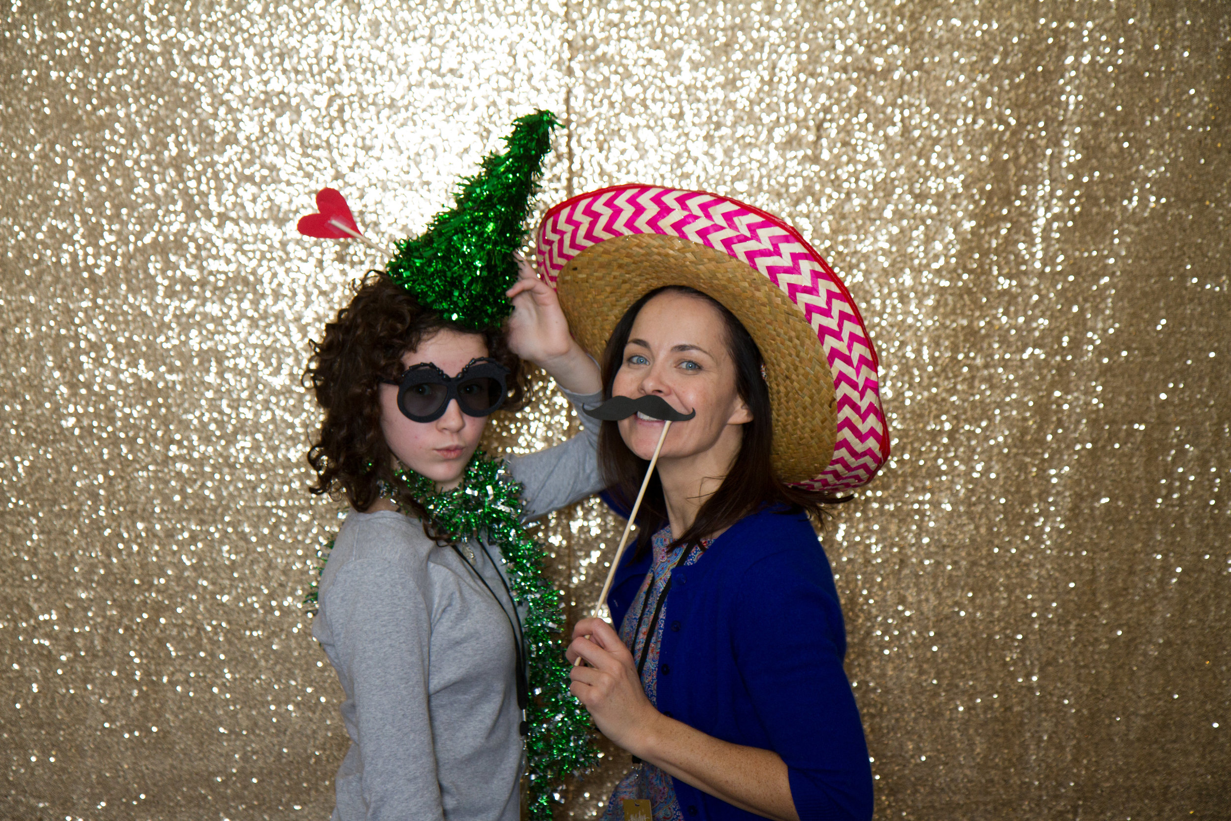 Holiday sparkly photo booth | MBC Holiday Show and Expo