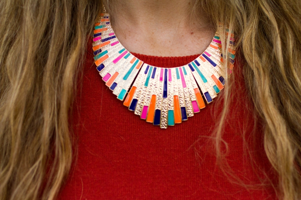 Colorful tribal necklace | Chelsea Drinkard The Closet Stylist