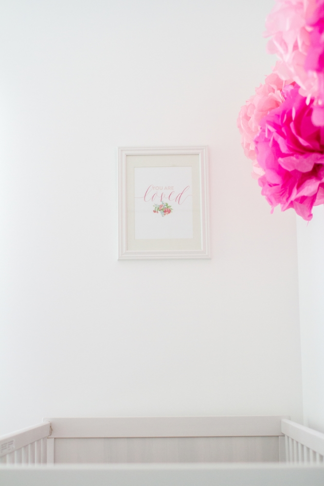 Modern girl nursery | Lorin Marie Photography