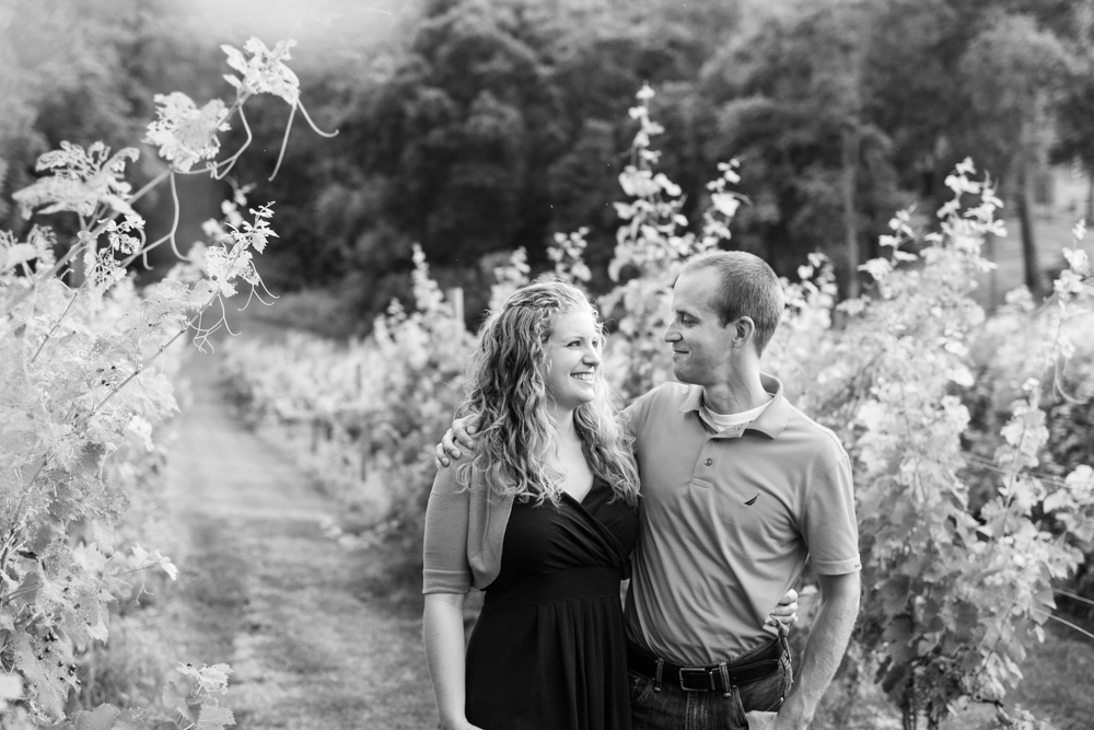 Engagement photos winery