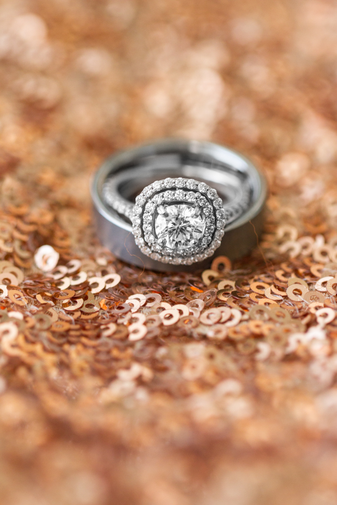 Platinum diamond ring set