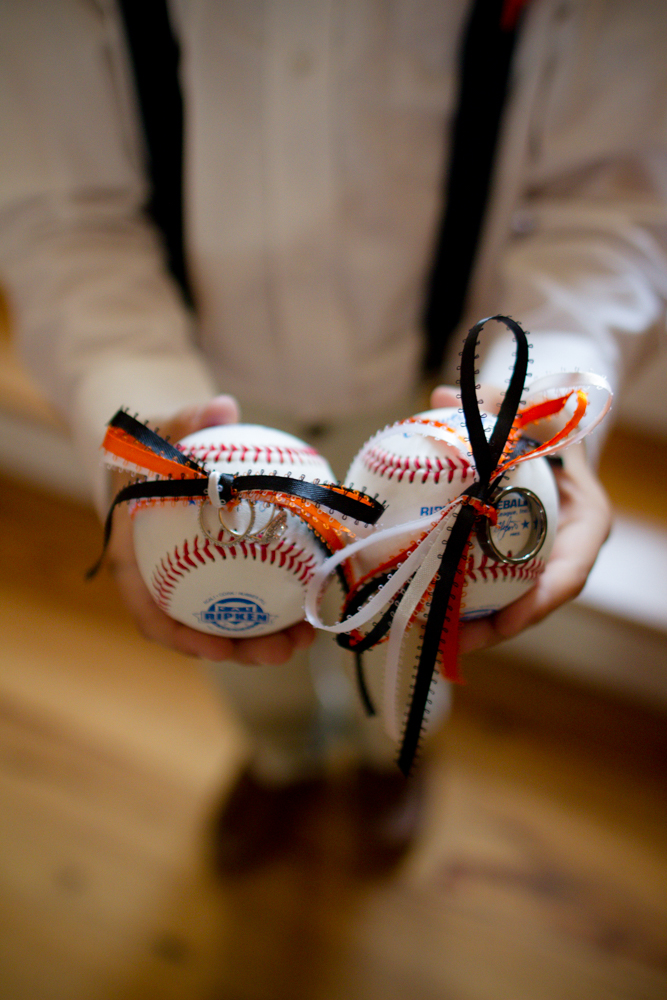 Orioles themed wedding