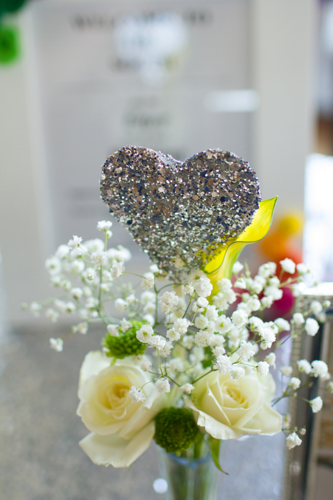 DIY glittery heart skewers