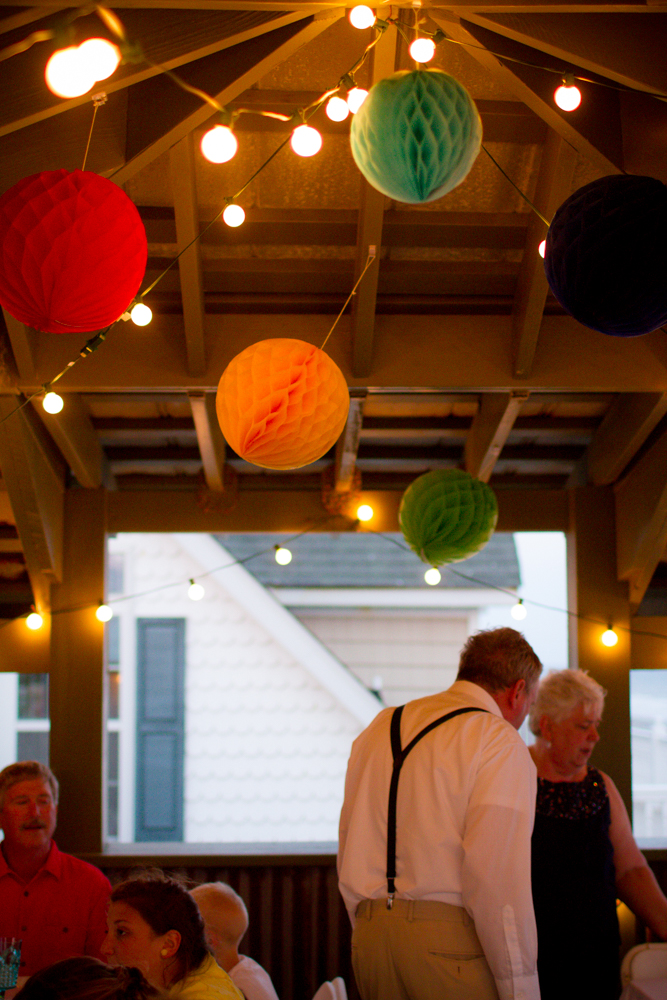 Balcony wedding reception