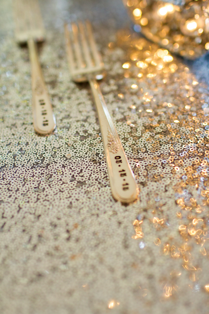 Engraved wedding forks