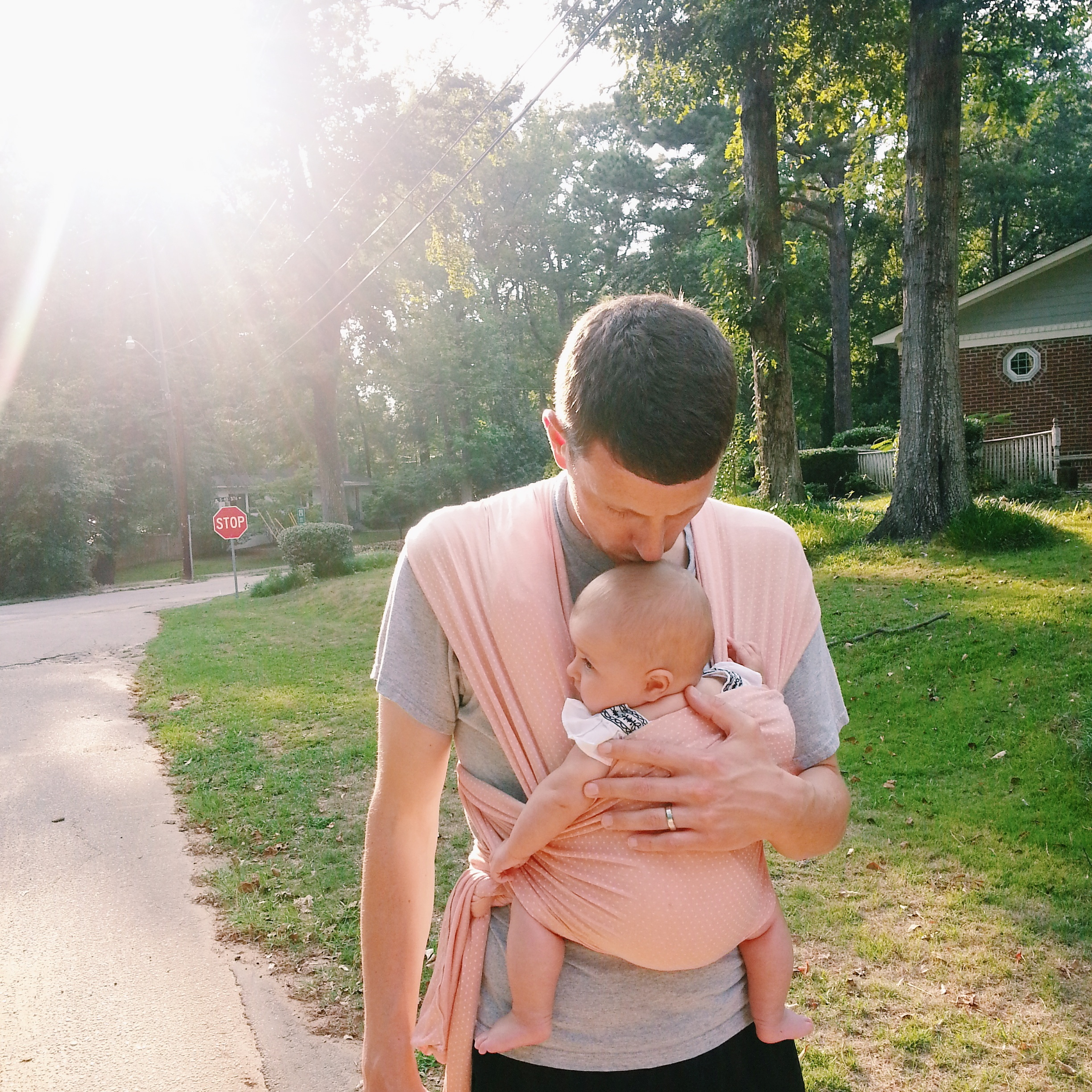 Solly baby wearing dad | Lorin Marie Photography