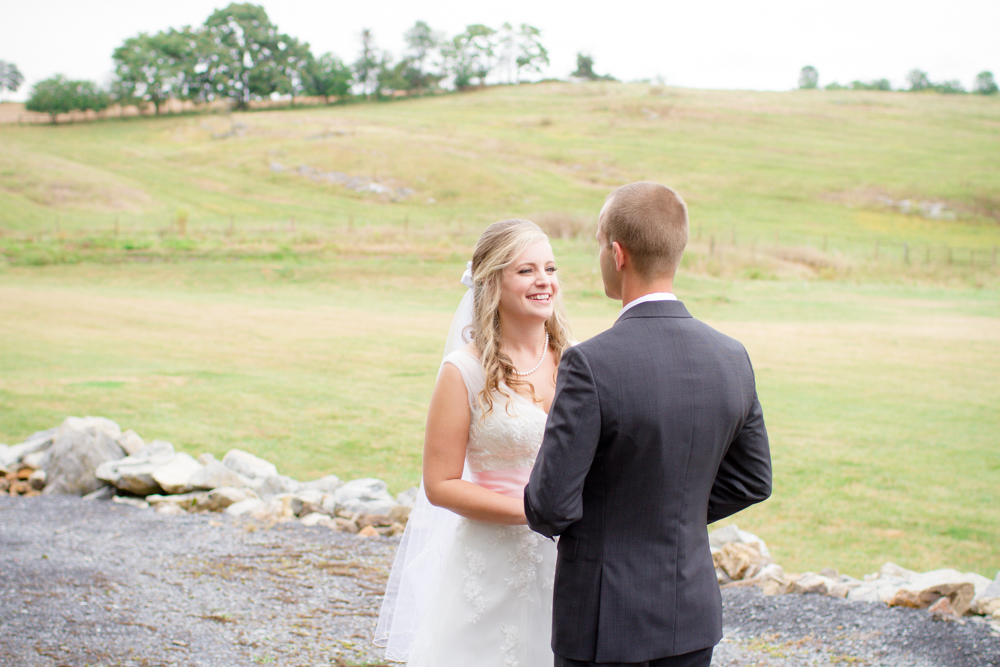 First look bride and groom | Lorin Marie Photography