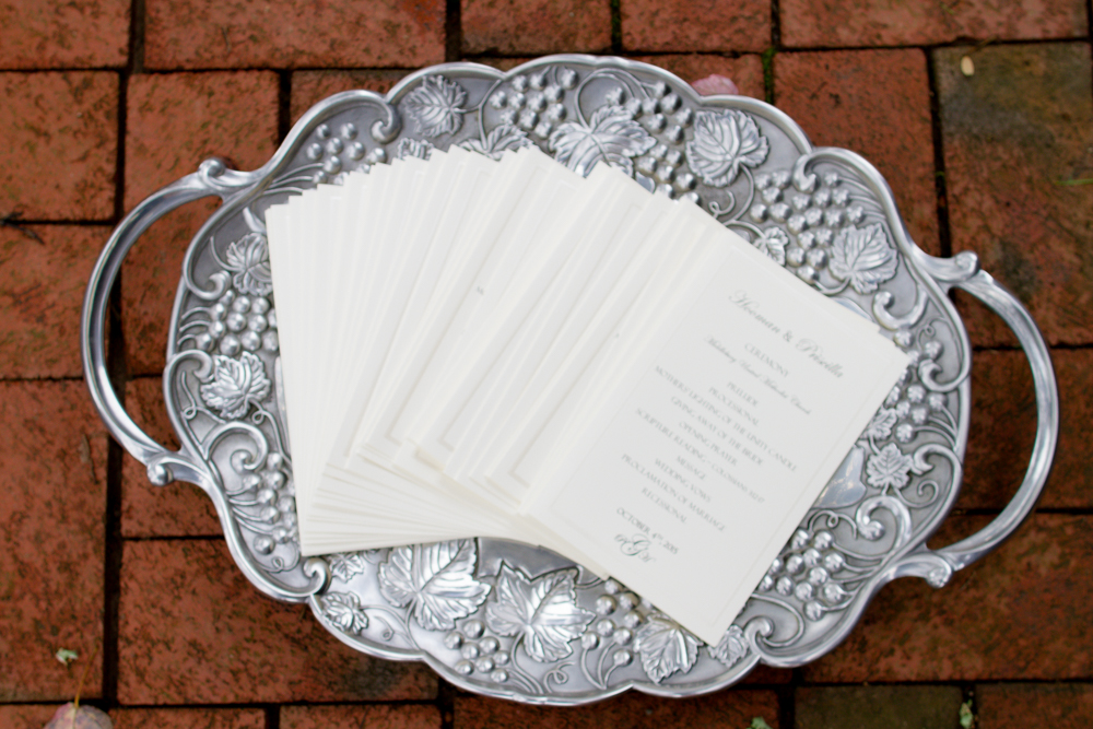 Wedding ceremony programs | Lorin Marie Photography