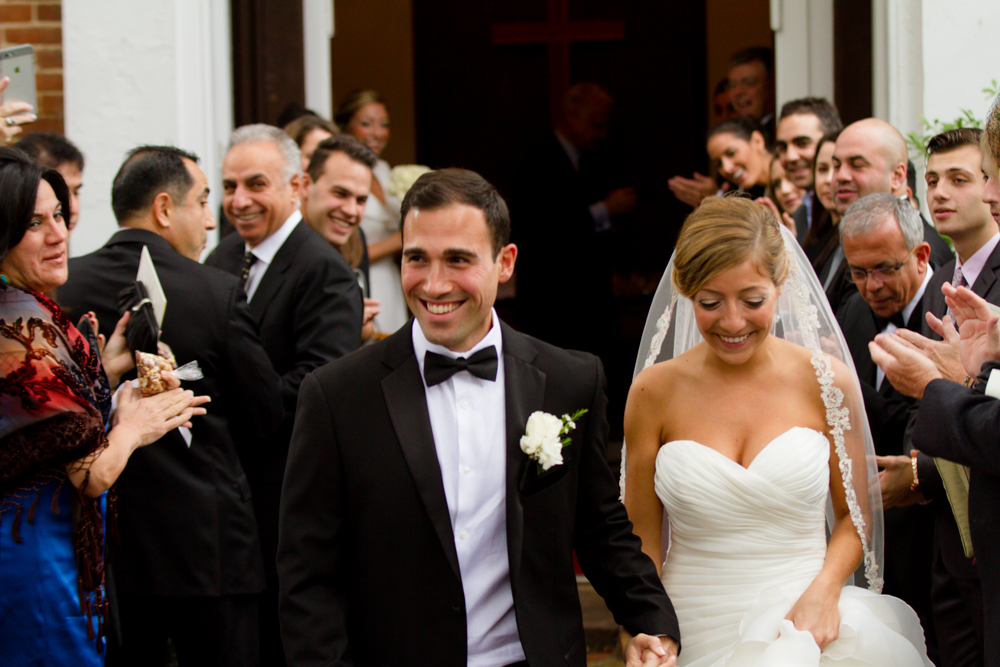 Church wedding exit | Lorin Marie Photography