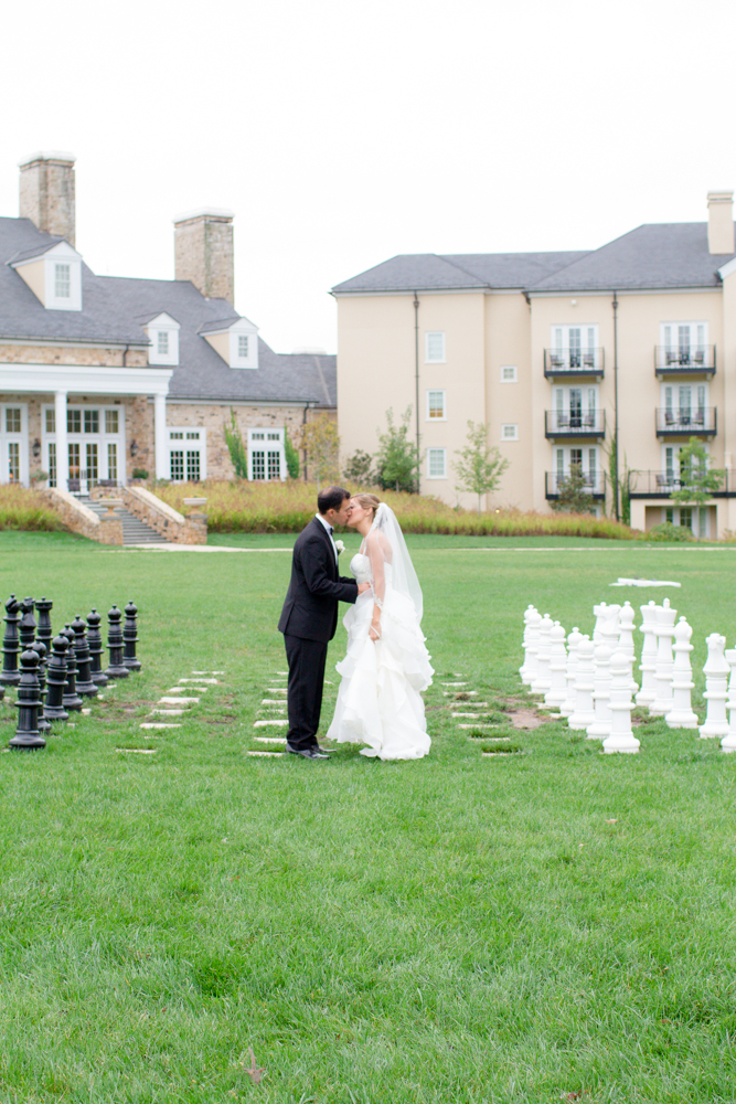 Chess board kiss | Middleburg wedding | Salamander Resort and Spa | Lorin Marie Photography