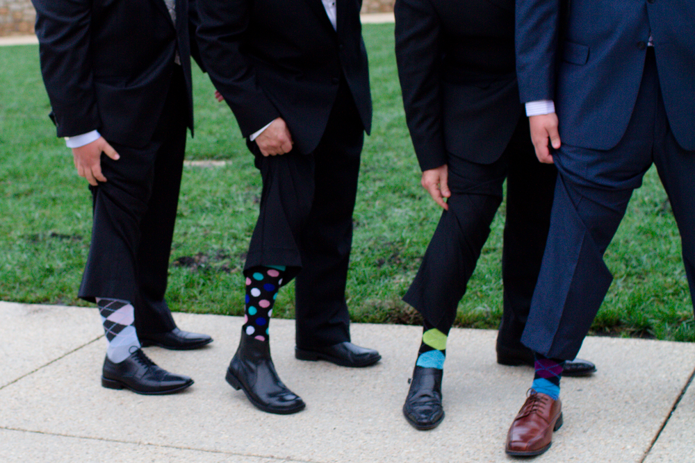 Fun wedding socks | Lorin Marie Photography