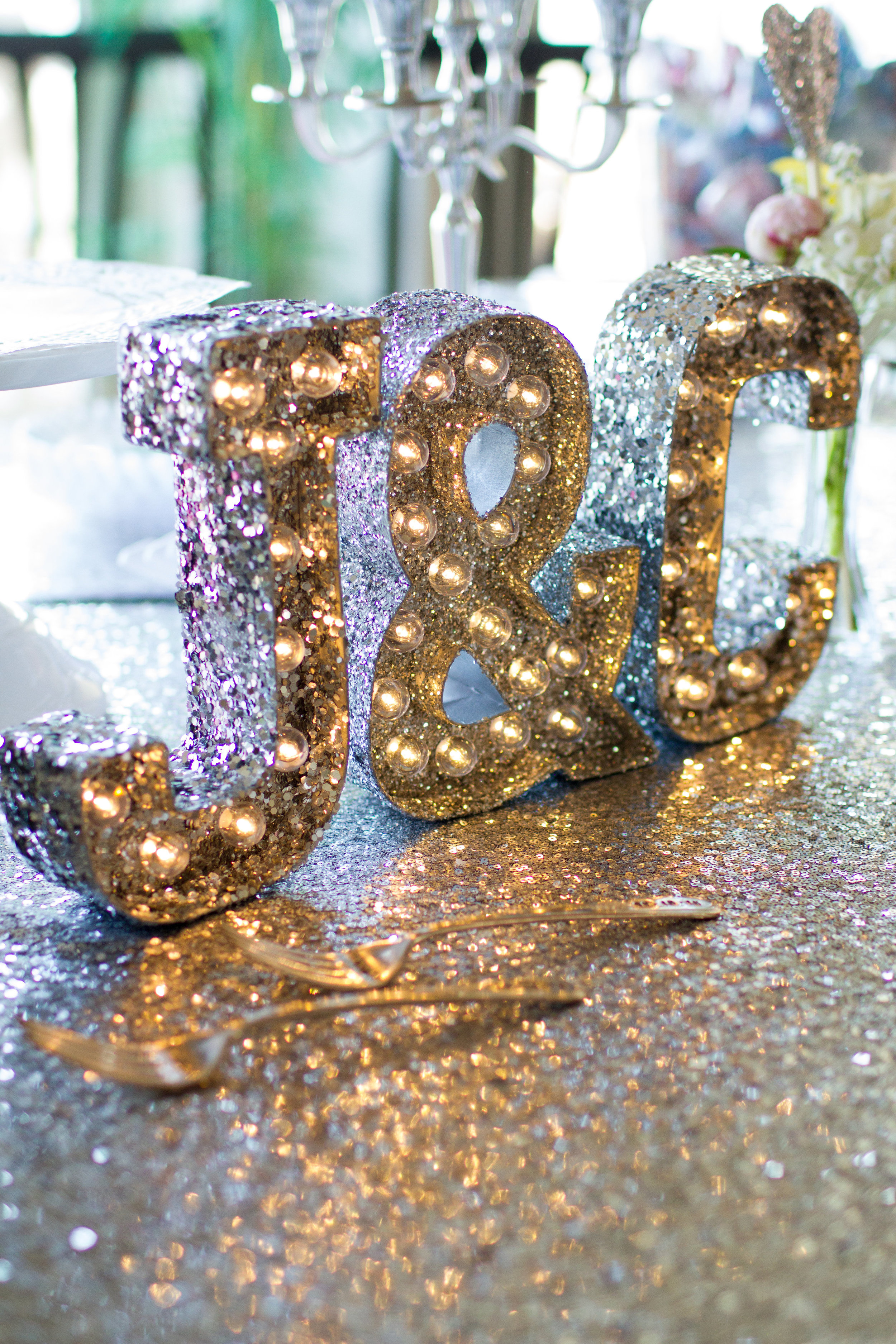 Sparkly reception decor ideas  | Lorin Marie Photography
