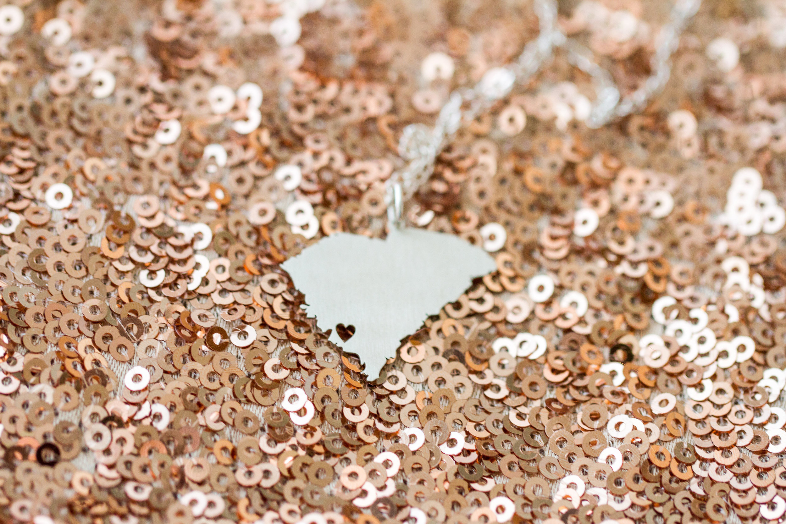 South Carolina state necklace | Lorin Marie Photography