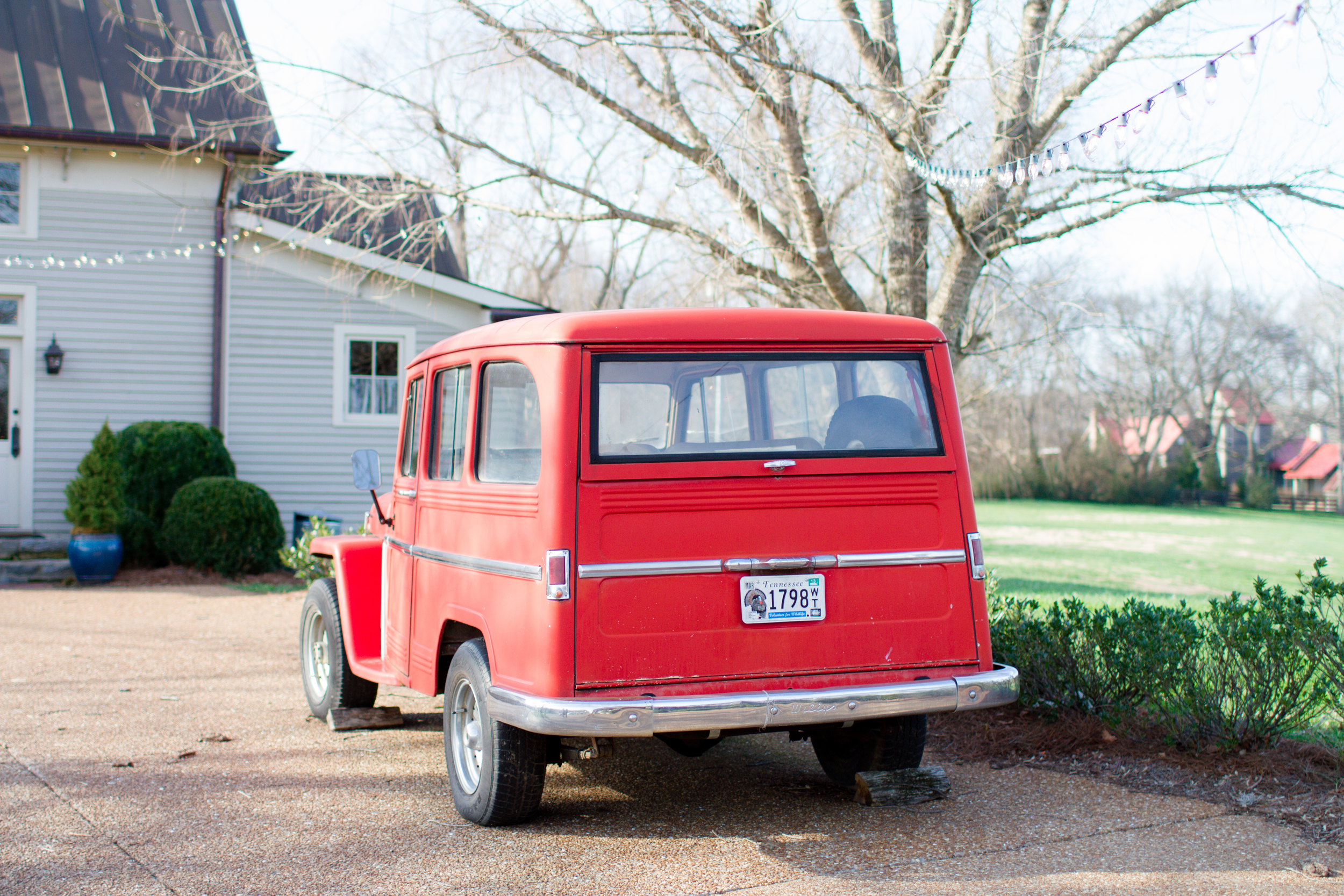 Antique red car | Lorin Marie Photography