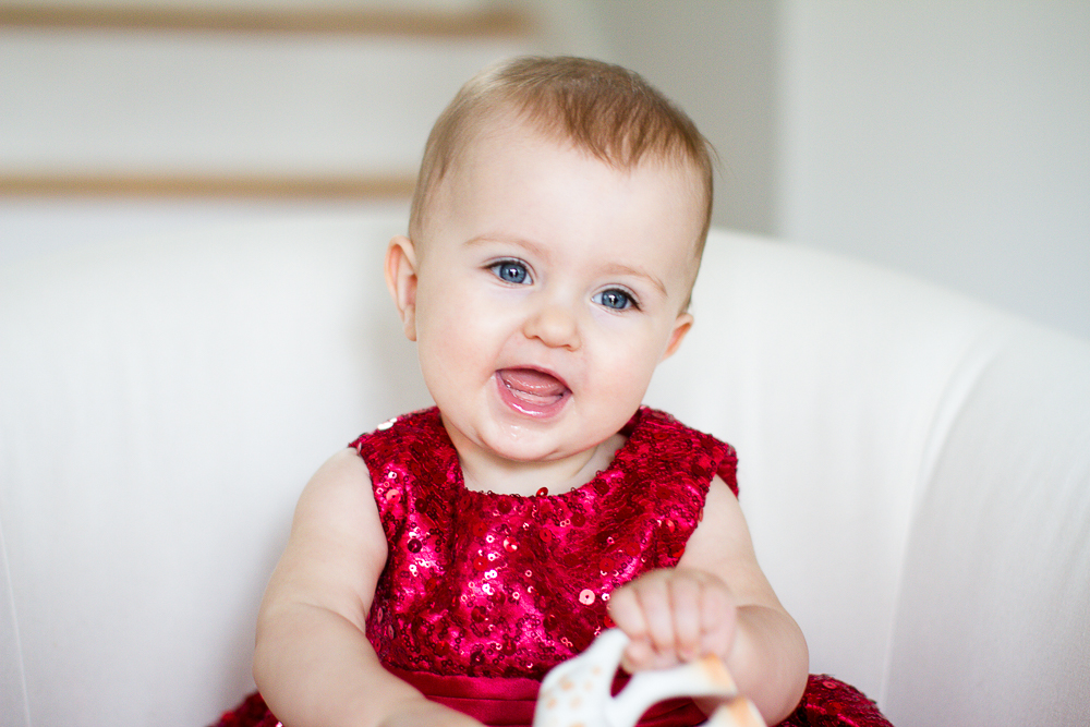 Red dressy baby party dress
