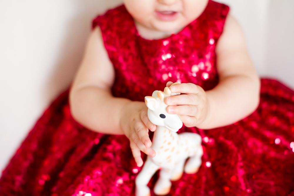Sophie the Giraffe photo shoot