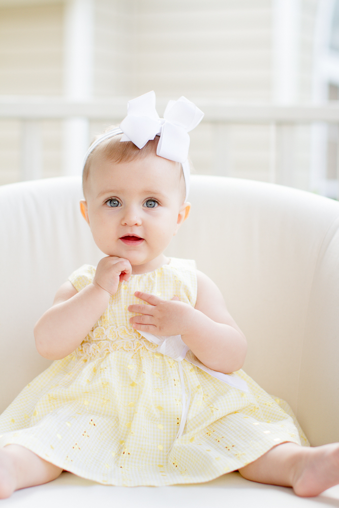 Baby yellow Easter dress