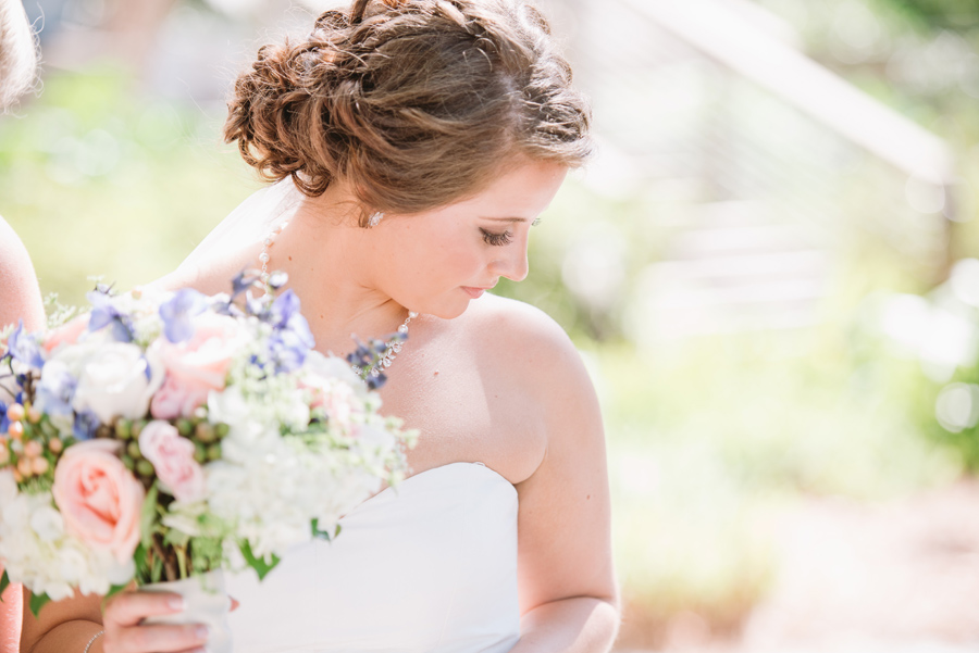 beautiful bridal makeup shot