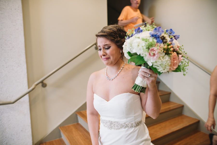 bride in tears