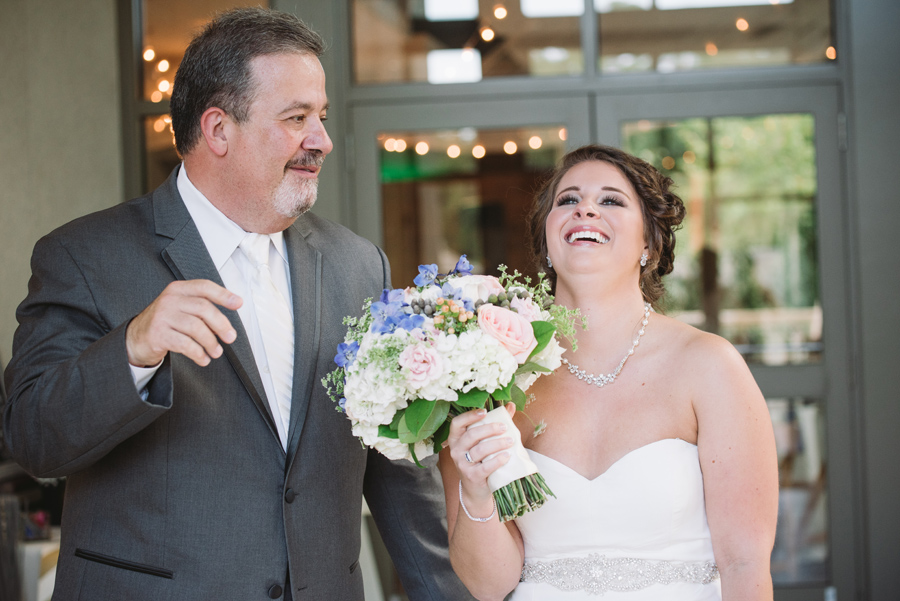 bride and her father moment