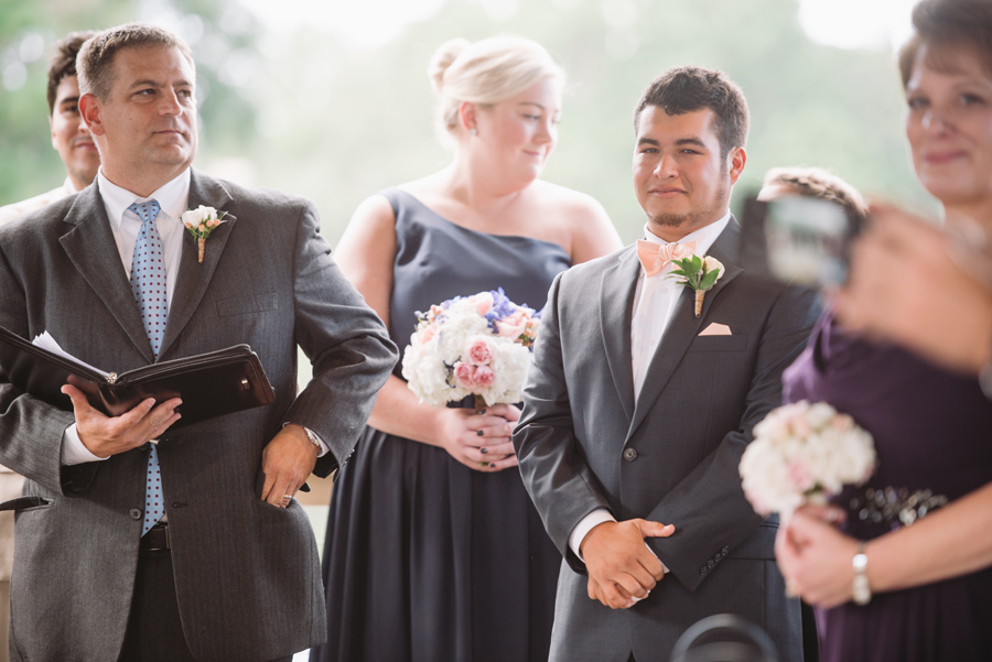 grooms reaction
