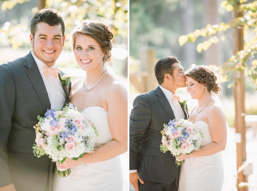 sweet wedding portrait