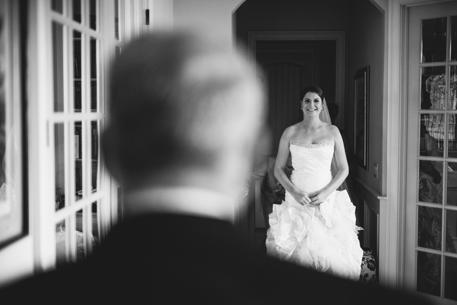 black and white bride sees dad first time