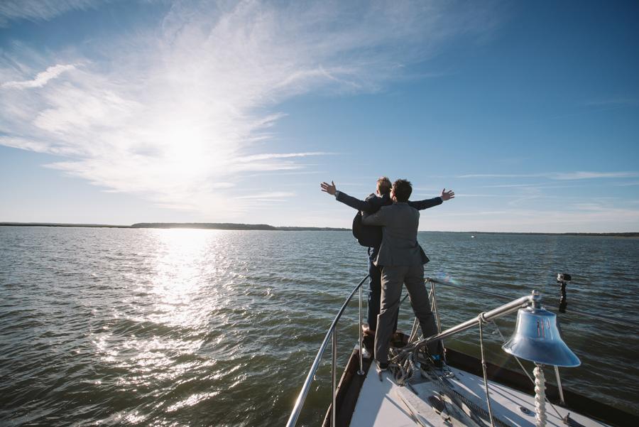 wedding on a boat titanic
