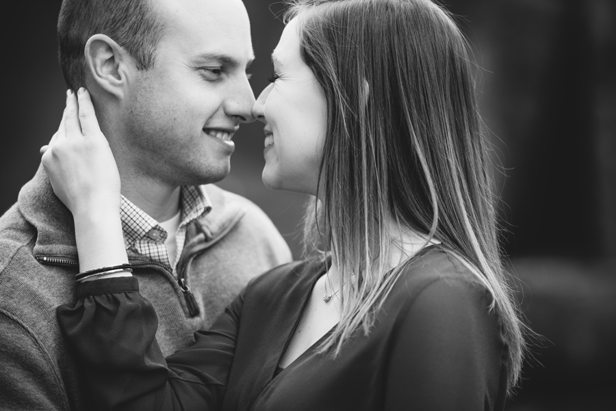 black and white engagement