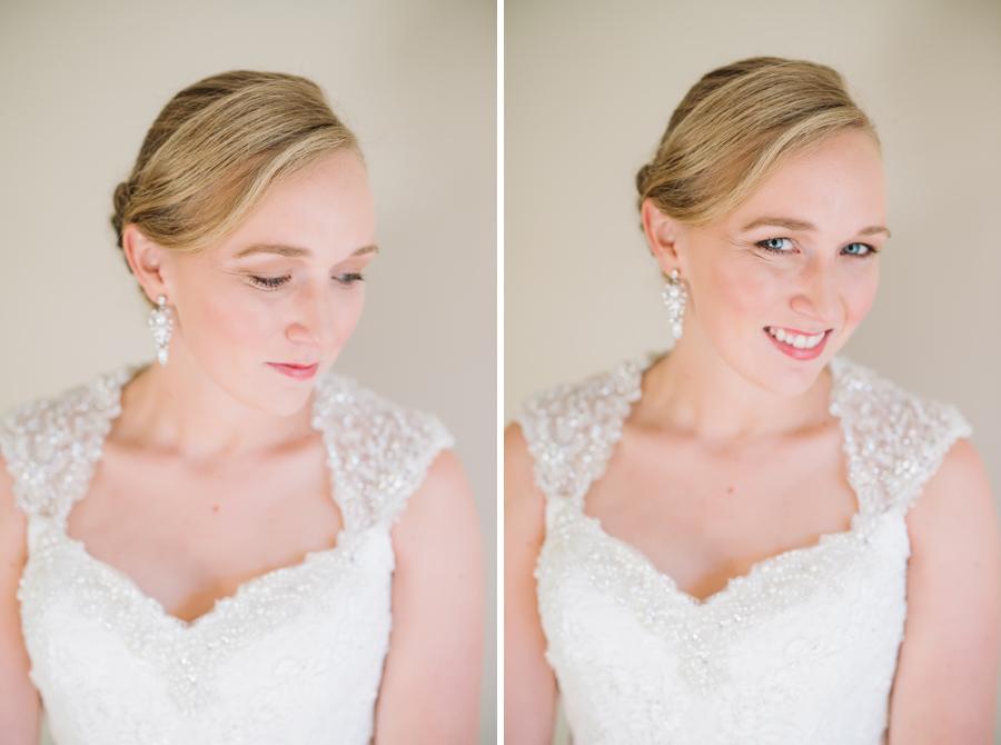bridal makeup detail