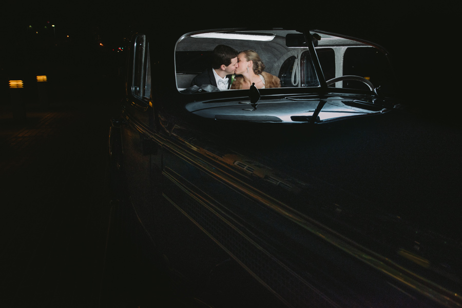 night time portraits with car