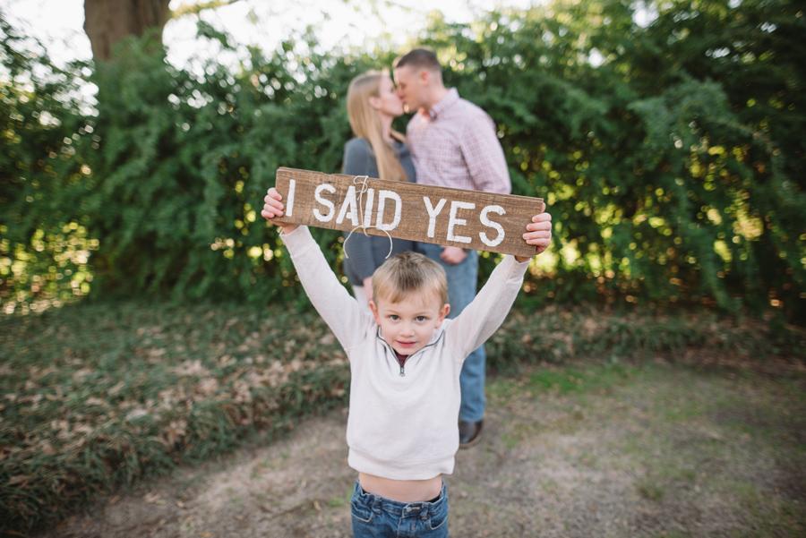 i said yes sign
