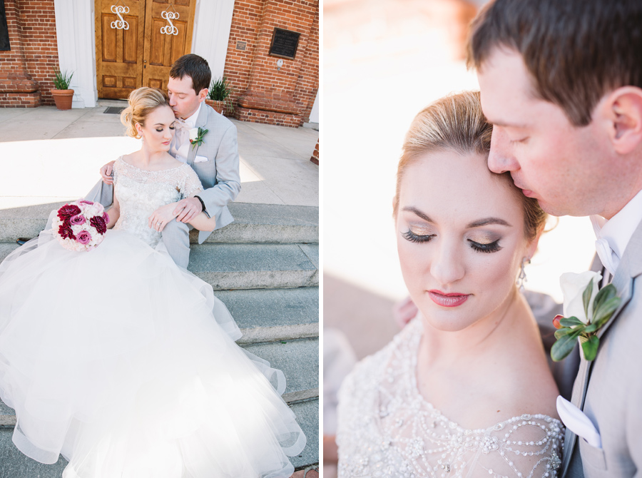 wedding portraits on steps