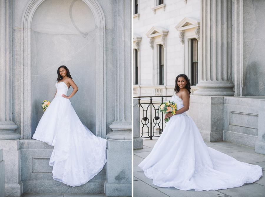 bridal portrait state house