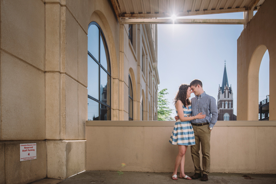 engagement session main street columbia