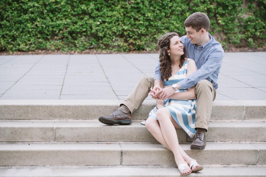 sitting engagement photo