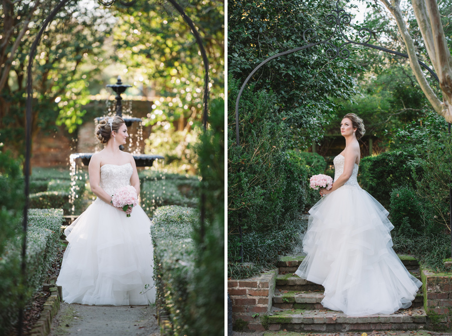 garden bridal photos