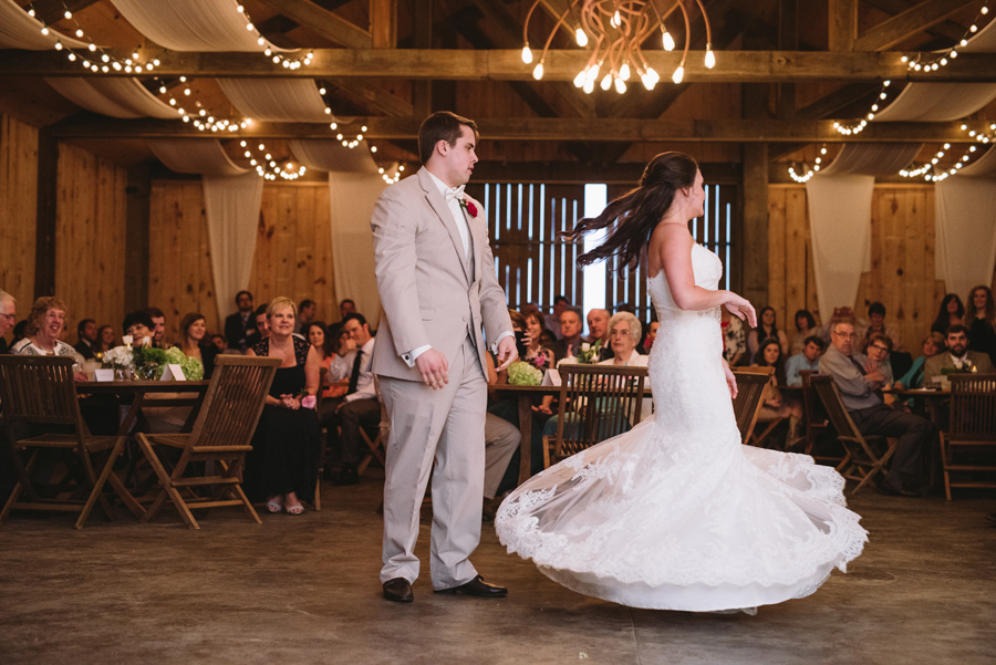 twirling first dance