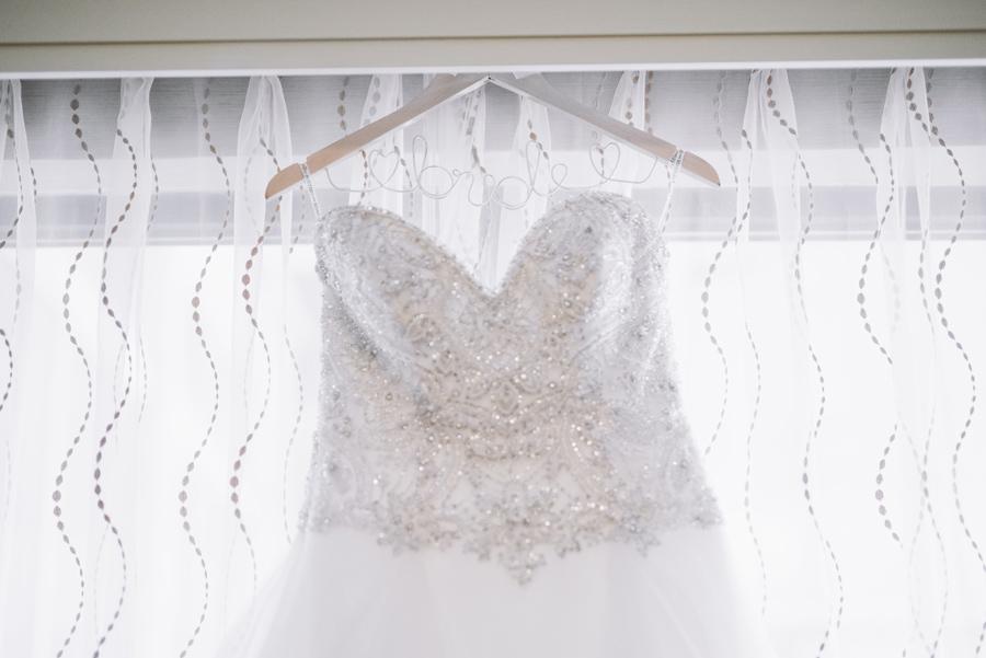 close up dress hanging